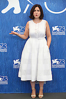 VENICE, ITALY - SEPTEMBER 08: director Rebecca Zlotowski attend a photocall for 'Planetarium' during the 73rd Venice Film Festival at Palazzo del Casino on September 8, 2016 in Venice, Italy.<br /> CAP/GOL<br /> &copy;GOL/Capital Pictures /MediaPunch ***NORTH AND SOUTH AMERICAS ONLY***