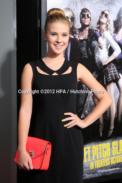 """LOS ANGELES - SEP 24:  Caroline Sunshine arrives at the """"Pitch Perfect'"""" Premiere at ArcLight Cinemas on September 24, 2012 in Los Angeles, CA"""
