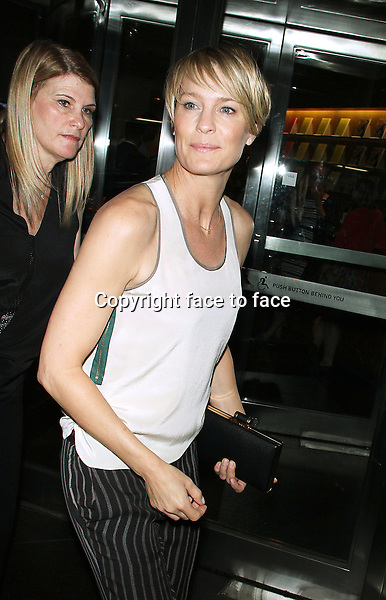 July 22, 2014: Robin Wright at the premiere of Lionsgate &amp; Roadside Attractions A Most Wanted Man at the MOMA in New York.<br /> Credit: MediaPunch/face to face<br /> - Germany, Austria, Switzerland, Eastern Europe, Australia, UK, USA, Taiwan, Singapore, China, Malaysia, Thailand, Sweden, Estonia, Latvia and Lithuania rights only -