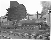 D&amp;RGW standard gauge 4-8-4 No. 1800 at the Salida coaling tower.<br /> D&amp;RGW  Salida, CO