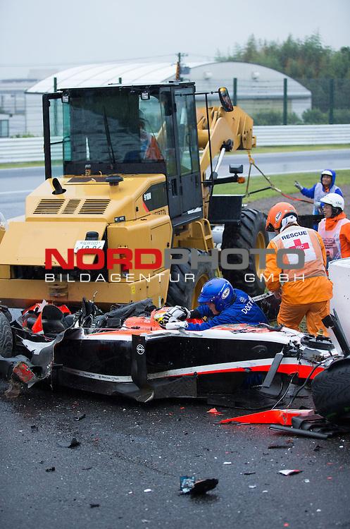 Crash - Jules Bianchi  (FRA), Marussia F1 Team<br /> for the complete Middle East, Austria &amp; Germany Media usage only!<br />  Foto &copy; nph / Mathis