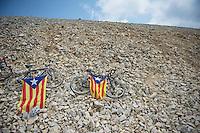 Catalan Nationalist Flags at the Ventoux<br /> <br /> Tour de France 2013<br /> stage 15: Givors to Mont Ventoux, 242,5km
