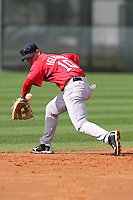 March 18, 2010:  Infielder Jose Iglesias of the Boston Red Sox organization during Spring Training at Ft.  Myers Training Complex in Fort Myers, FL.  Photo By Mike Janes/Four Seam Images