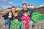 Preparations are underway in Ballyheigue Village for the annual St Patrick's day parade with young and old involved in the celebration .Back L-R  Organisers Ristea?rd O'Fuara?in and Pat Keating .With Front L-R Cai O'Fuara?in, Kallum and Ceide Hussey who will take part in the parade