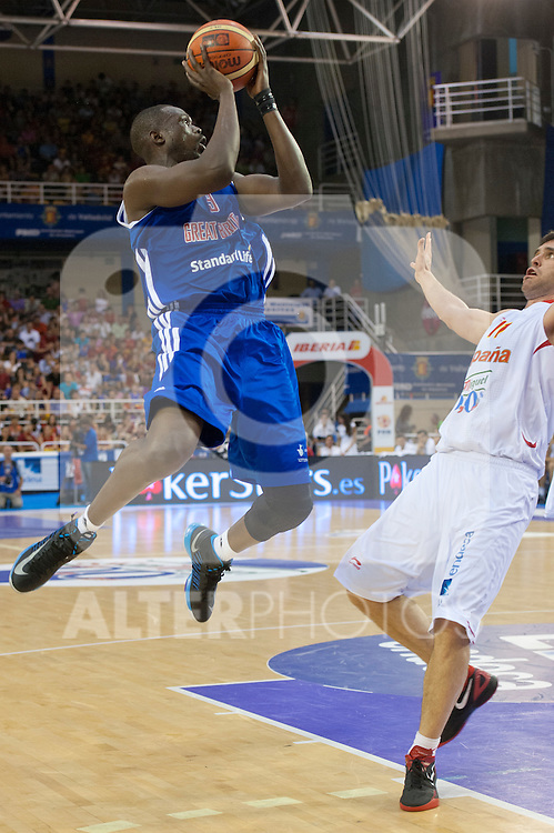 Great Britain's  Luol Deng during friendly match.July 9,2012.(ALTERPHOTOS/Ricky)