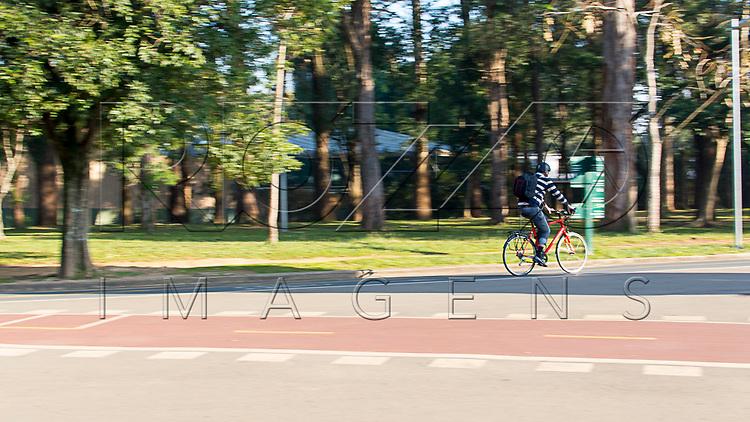 Ciclista no Parque do Ibirapuera, São Paulo - SP, 06/2016.