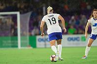 Orlando, FL - Saturday September 02, 2017: Adriana Leon during a regular season National Women's Soccer League (NWSL) match between the Orlando Pride and the Boston Breakers at Orlando City Stadium.