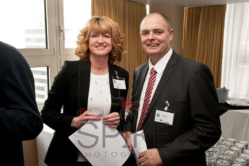 Lesley Lakin of Riding Ltd with Paul Goodwin of CLW Electrical