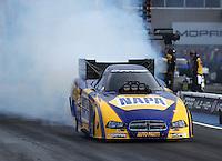 Jul. 18, 2014; Morrison, CO, USA; NHRA funny car driver Ron Capps during qualifying for the Mile High Nationals at Bandimere Speedway. Mandatory Credit: Mark J. Rebilas-