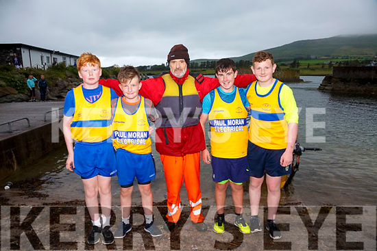 The Sive U14 mixed crew who finished in second place at the Cahersiveen Regatta on Sunday pictured l-r; Kieran Corcoran, Thomás Kelly, Pádraig O'Shea(cox), Cathal O'Sullivan & Michael Murphy.  Valentia took gold and Cromane bronze.