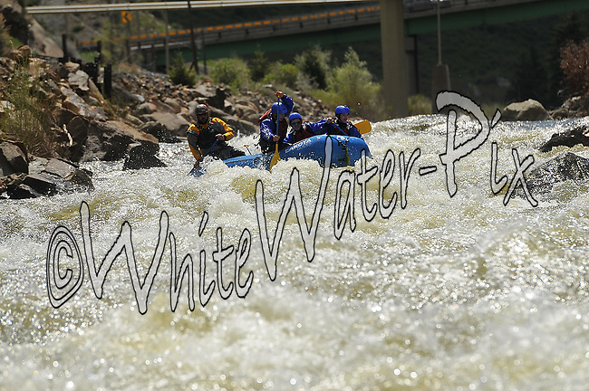 Lakota Guides crashing Dowd Chute Rapid while running the Eagle River, May 31, 2013, Eagle, Colorado - WhiteWater-Pix | River Adventure Photography - by MADOGRAPHER Doug Mayhew