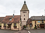 The Porte Haute, or town gate, of the town of Bergheim, Alsace