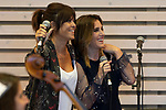 """Singers Vanesa Martin (L) and Soledad Pastorutti """"La Sole"""" during the press conference and rehearsal of Festival Unicos. September 22, 2019. (ALTERPHOTOS/Johana Hernandez)"""