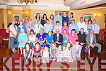 GOLDEN ANNIVERSARY: Andy and Jane Crean-Lynch, Clash East, Tralee (seated centre) enjoying a great time celebrating their 50th wedding anniversary with family and friends at Meadowlands hotel, Tralee on Friday.