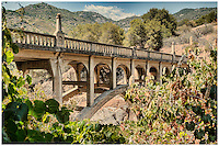 Kaweah River Bridge in Sierra Nevada Mountains built in 1923.