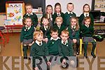 Naíonain bheaga pupils starting school at Scoil Eoin Baiste, Lios Póil, on Friday morning were, front l-r: Setanta Ó Brosnachain, Muiris Ó Conchuir, Paudie Breathnach. Middle l-r: Soirse Ní Bhrosnachain, Sadhbh Madeley, Órla May Ní Ghrifín, Aisling Ní Bhriain, Grace Treloar. Back l-r: Tomas Ó Gealbhain, Emer Eachairn, Jessie Ní Loingsigh, Patrick Mac Gearailt, Róise Ní Ghairbhí.