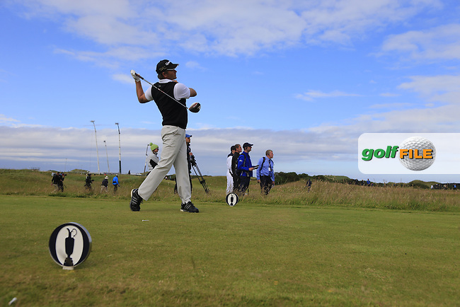 Retief Goosen (RSA) tees off the 15th tee during Sunday's Round 3 of the 144th Open Championship, St Andrews Old Course, St Andrews, Fife, Scotland. 19/07/2015.<br /> Picture Eoin Clarke, www.golffile.ie