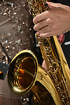DC Stage, Kaohsiung -- Close-up of a saxophone.