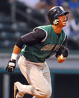 30 August 2007: Emmanuel Burriss of the Augusta GreenJackets, Class A South Atlantic League affiliate of the San Francisco Giants, in a game against the Greenville Drive at West End Field in Greenville, S.C. Photo by:  Tom Priddy/Four Seam Images