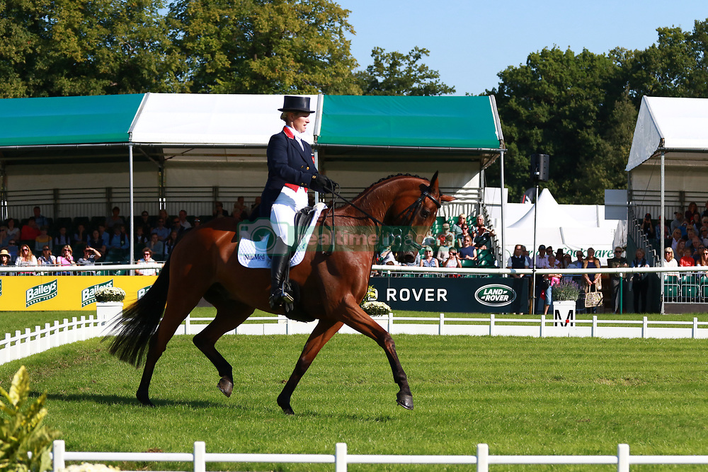 Zara Tindall riding High Kingdom during her dressage stage