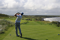 Robert Brazill (Naas) on the 11th tee during Matchplay Semi-Finals of the AIG Irish Amateur Close Championship 2019 in Ballybunion Golf Club, Ballybunion, Co. Kerry on Wednesday 7th August 2019.<br /> <br /> Picture:  Thos Caffrey / www.golffile.ie<br /> <br /> All photos usage must carry mandatory copyright credit (© Golffile | Thos Caffrey)