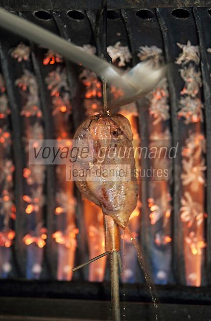 """Europe/France/Centre/41/Loir-et-Cher/Bracieux: Restaurant """"Le Relais de Bracieux"""" - Perdreau gris au grill"""
