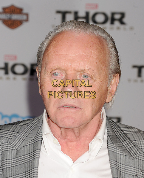 HOLLYWOOD, CA - NOVEMBER 04: Sir Anthony Hopkins arrives at the Los Angeles Premiere 'Thor: The Dark World' at the El Capitan Theatre on November 4, 2013 in Hollywood, California, USA.<br /> CAP/ROT/TM<br /> &copy;Tony Michaels/Roth Stock/Capital Pictures