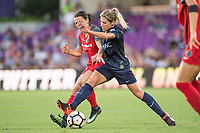 Orlando, FL - Saturday October 14, 2017: Hayley Raso, McCall Zerboni during the NWSL Championship match between the North Carolina Courage and the Portland Thorns FC at Orlando City Stadium.