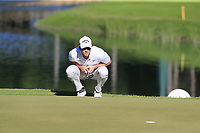 Thomas Pieters (BEL) on the 6th green during Saturday's Round 3 of the 2018 Turkish Airlines Open hosted by Regnum Carya Golf &amp; Spa Resort, Antalya, Turkey. 3rd November 2018.<br /> Picture: Eoin Clarke | Golffile<br /> <br /> <br /> All photos usage must carry mandatory copyright credit (&copy; Golffile | Eoin Clarke)