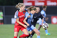 Piscataway, NJ - Saturday June 3, 2017: Dagny Brunjarsdottir, Sarah Killion during a regular season National Women's Soccer League (NWSL) match between Sky Blue FC and the Portland Thorns at Yurcak Field.  Portland defeated Sky Blue, 2-0.