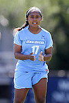 09 September 2012: San Diego's Devany Savage. The University of North Carolina Tar Heels defeated the University of San Diego Toreros 5-0 at Koskinen Stadium in Durham, North Carolina in a 2012 NCAA Division I Women's Soccer game.