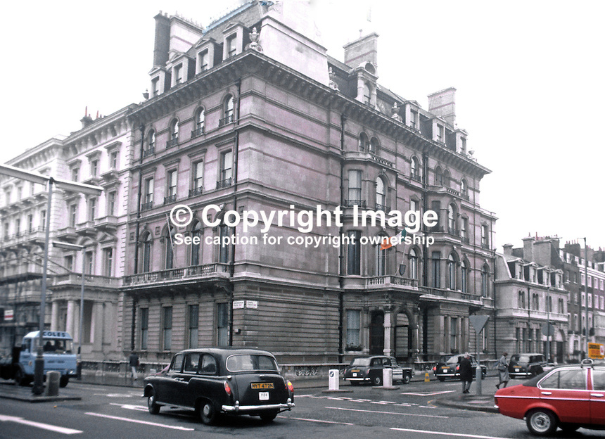 Irish Embassy, London, UK, 19820300017EMB2..Copyright Image from Victor Patterson, 54 Dorchester Park, Belfast, UK, BT9 6RJ..Tel: +44 28 9066 1296.Mob: +44 7802 353836.Voicemail +44 20 8816 7153.Skype: victorpattersonbelfast.Email: victorpatterson@me.com.Email: victorpatterson@ireland.com (back-up)..IMPORTANT: If you wish to use this image or any other of my images please go to www.victorpatterson.com and click on the Terms & Conditions. Then contact me by email or phone with the reference number(s) of the image(s) concerned.