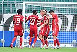 0:2 Tor, Jubel, v.l. Alphonso Davies, David Alaba, Torschuetze Mickael ''Michael'' Cuisance, Kingsley Coman, Robert Lewandowski (Bayern)<br />Wolfsburg, 27.06.2020: nph00001: , Fussball Bundesliga, VfL Wolfsburg - FC Bayern Muenchen<br />Foto: Tim Groothuis/Witters/Pool//via nordphoto<br /> DFL REGULATIONS PROHIBIT ANY USE OF PHOTOGRAPHS AS IMAGE SEQUENCES AND OR QUASI VIDEO<br />EDITORIAL USE ONLY<br />NATIONAL AND INTERNATIONAL NEWS AGENCIES OUT