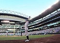 Ichiro Suzuki (Yankees),<br /> JUNE 6, 2013 - MLB :<br /> Ichiro Suzuki of the New York Yankees on deck circle during the Major League Baseball game against the Seattle Mariners at Safeco Field in Seattle, Washington, United States. (Photo by AFLO)