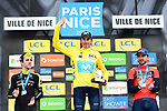 Marc Soler (ESP) Movistar Team the overall title by 4&quot; from Simon Yates (GBR) Mitchelton-Scott with Gorka Izagirre (ESP) Bahrain-Merida in 3rd place at the end of Stage 8 of the 2018 Paris-Nice running 110km from Nice to Nice, France. 11th March 2018.<br /> Picture: ASO/Alex Broadway | Cyclefile<br /> <br /> <br /> All photos usage must carry mandatory copyright credit (&copy; Cyclefile | ASO/Alex Broadway)