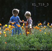 Interlitho, CHILDREN, photos, 2 kids, meadow(KL719/3,#K#) Kinder, niños