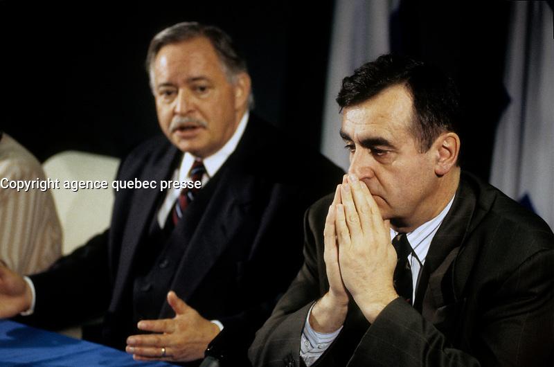 Lucien Bouchard<br />  during the 1995 Referendum