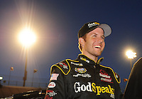 Apr 16, 2009; Avondale, AZ, USA; NASCAR Camping World Series West driver Blake Koch prior to the Jimmie Johnson Foundation 150 at Phoenix International Raceway. Mandatory Credit: Mark J. Rebilas-