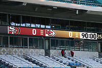 2nd February 2020, Miami Gardens, Miami, Florida USA; Superbowl LIV, Kansas City Chiefs versus San Francisco 49ers;   A general  view of the score board inside Hard Rock Stadium  prior to Super Bowl LIV on February 2, 2020 at Hard Rock Stadium
