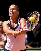 Dominika Cibulkova (SVK) (20) against Dinara Safina (RUS) (1) in the Semifinals of the Women's Singles. Safina beat Cibulkova 6-3 6-3..Tennis - French Open - Day 12 - Thurs  4th June 2009 - Roland Garros - Paris - France..Frey Images, Barry House, 20-22 Worple Road, London, SW19 4DH.Tel - +44 20 8947 0100.Cell - +44 7843 383 012