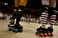 Charlotte Roller Derby Girls at Bojangles Arena in Charlotte, NC.