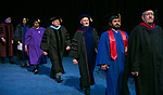 Faculty and staff members make their way toward the stage during the College of Computing and Digital Media and the College of Communication commencement ceremonies Sunday, June 11, 2017, at the Allstate Arena in Rosemont, IL.