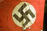 Swastika flag, German Underground Military hospital, Guernsey, Channel Islands, UK