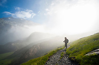 Hiking towards Greina, val Blenio, Ticino, Switzerland, august 2013.