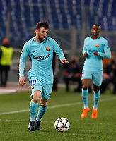 FC Barcelona Lionel Messi in action during the Uefa Champions League quarter final second leg football match between AS Roma and FC Barcelona at Rome's Olympic stadium, April 10, 2018.<br /> UPDATE IMAGES PRESS/Riccardo De Luca