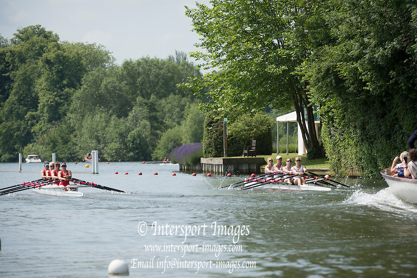 Henley Royal Regatta, Henley on Thames, Oxfordshire, 3-7 July 2013.  Friday  11:41:03   05/07/2013  [Mandatory Credit/Intersport Images]<br /> <br /> Rowing, Henley Reach, Henley Royal Regatta.<br /> <br /> The Princess Grace Challenge Cup<br /> Wallingford Rowing Club v California Rowing Club, U.S.A.