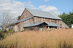 Old barn and field in rural New Hampshire USA