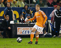 CARSON, CA - November 20, 2011: Houston Dynamo Andre Hainault (31) during the MLS Cup match between LA Galaxy and Houston Dynamo at the Home Depot Center in Carson, California. Final score LA Galaxy 1, Houston Dynamo 0.