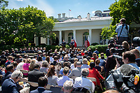 United States President Donald J. Trump and President Andrzej Duda of the Republic of Poland, conduct a joint press conference in the Rose Garden of the White House in Washington, DC on Wednesday, June 12, 2019. <br /> Credit: Ron Sachs / CNP/AdMedia