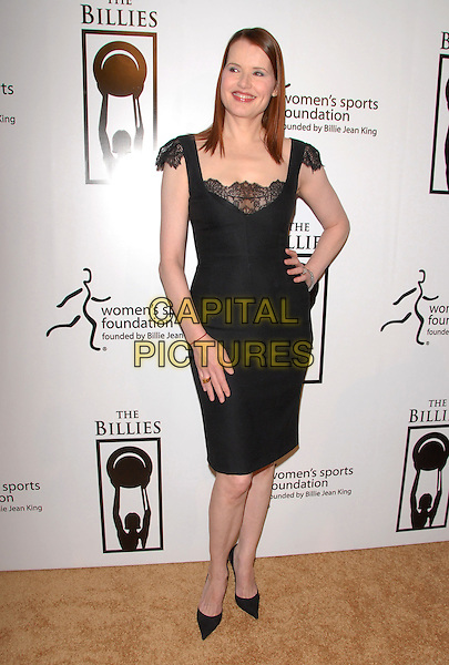 GEENA DAVIS.Attends The Billies held at The Beverly Hilton Hotel in Beverly Hills, California on .April 11th, 2007.full length black dress lace hand on hip.CAP/DVS.©Debbie VanStory/Capital Pictures